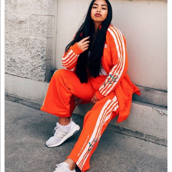 official photos fd10e 4083b RARE ASOS Adidas FSH long Orange track suit set